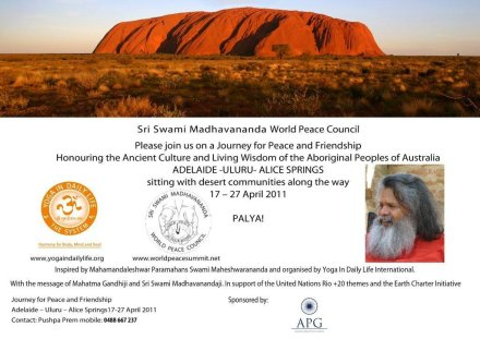 Report of World Peace Tour to Uluru, Australia, April 2011