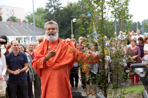 Peace tree planting - Gyor, Hungary, 2014