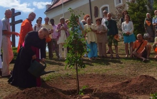 World Peace Council - Peace tree planting in Paloznak, Hungary