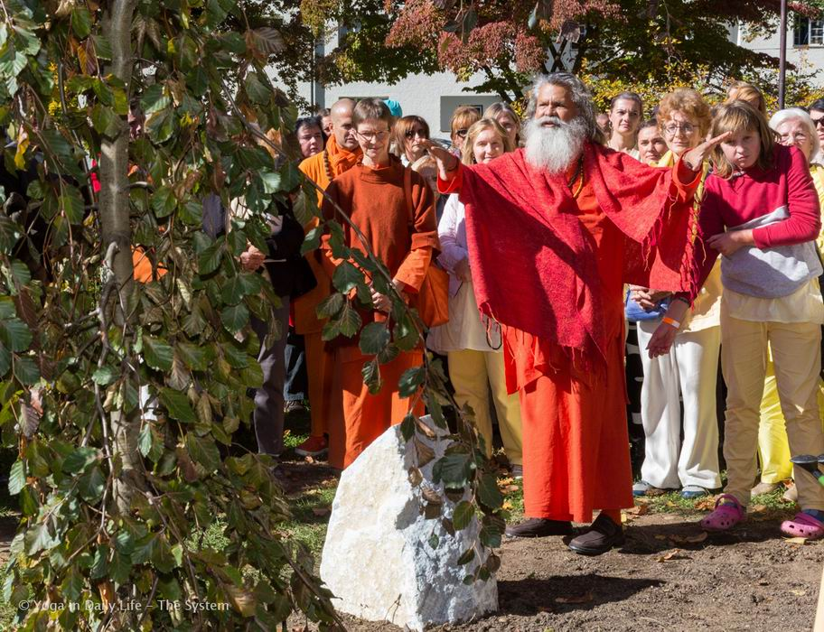 Peace tree planting in Villach, Austria 07 10 2017