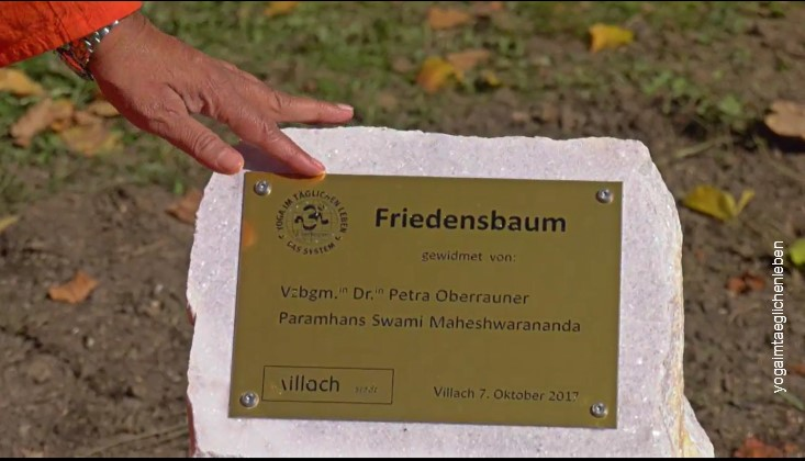 Peacetree planting in Villach - plate